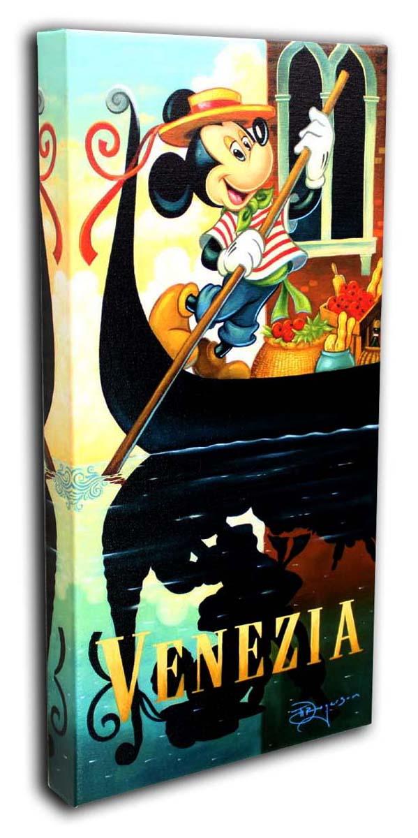 ディズニー「ミッキーのヴェネツィア」作品証明書・展示用フック付 限定1500部キャンバスジークレ【インテリア】【アート】【絵画インテリア】