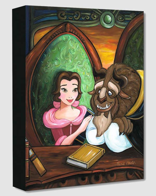 ディズニー/美女と野獣「アワ・ストーリー」作品証明書・展示用フック付 限定1500部キャンバスジークレ【インテリア】【アート】【Disney】【絵画インテリア】