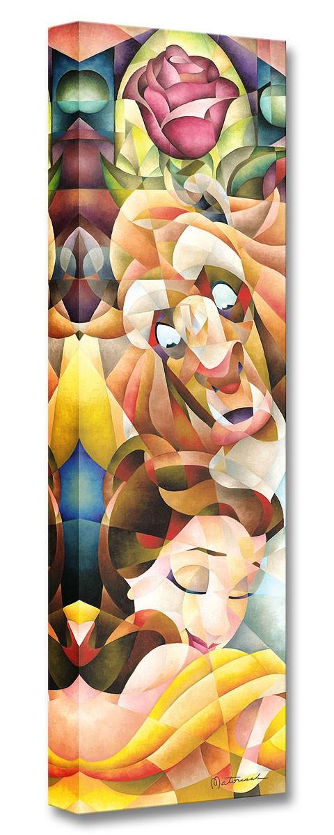 ディズニー「美女と野獣/真実の愛の抱擁」作品証明書・展示用フック付 限定1500部キャンバスジークレ【インテリア】【アート】【Disney】【絵画インテリア】