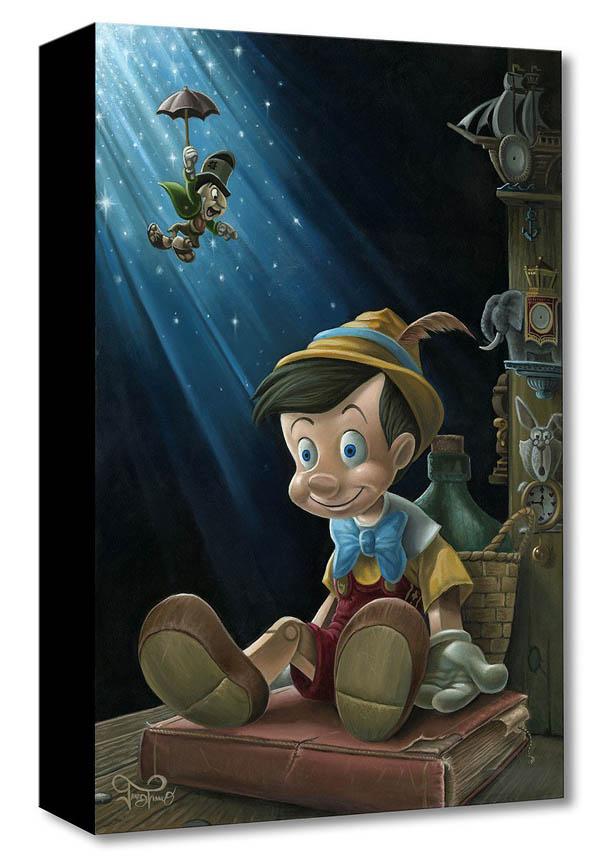 ディズニー「ピノキオ/リトル・ウッド・ボーイ」作品証明書・展示用フック付 限定1500部キャンバスジークレ【インテリア】【アート】【Disney】【絵画インテリア】
