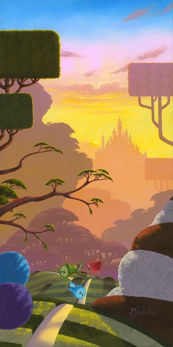 【大放出セール】 ディズニー絵画「眠れる森の美女/モーニング フライト」限定195部 キャンバスジークレ額縁5種展開 作家サイン・作品証明書・展示用フック付, ニシナリク:73e3f0eb --- listinginfo.houzerz.com
