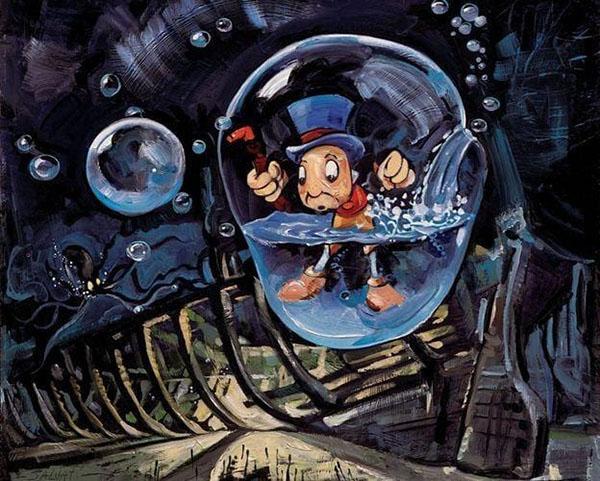 日本初の ディズニー絵画「ピノキオ/浸水」限定195部 キャンバスジークレ額縁5種展開 作家サイン・作品証明書・展示用フック付, 靴紐手芸紐の marui:0acaab78 --- amgaclub.ru