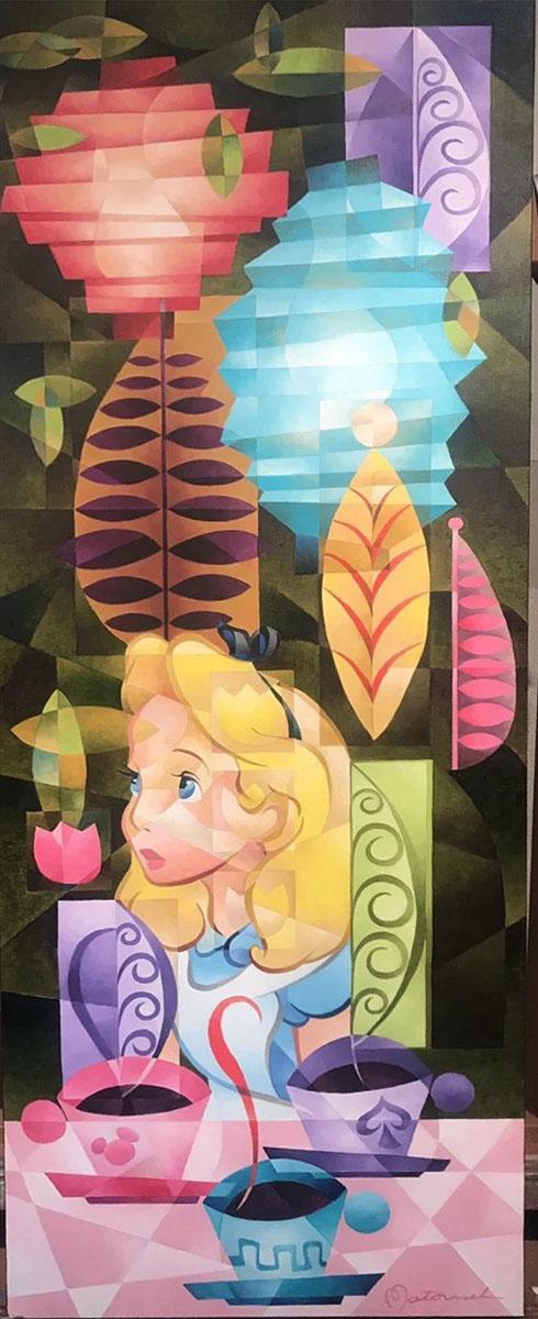 日本最大の ディズニー絵画「不思議の国のアリス/ティー フォー フォー スリー」限定195部 キャンバスジークレ額縁5種展開 作家サイン・作品証明書・展示用フック付, 西淀川区:4cea4734 --- harmar.com.ua