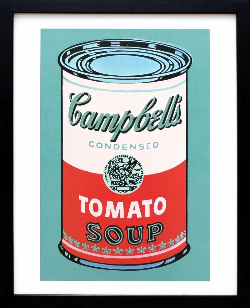 送料無料 アンディ ウォーホルポスター フレーム付き ウォーホル キャンベル スープ トマト 展示用フック付ポスター 一部予約 1968 アート アンディウォーホル 絵画インテリア ピンクレッド ポップアート 70%OFFアウトレット インテリア