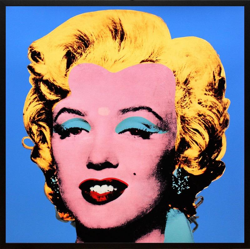 アンディ・ウォーホル「マリリン・モンロー(ショットブルー)1964」展示用フック付ポスター ポップアート【インテリア】【アート】【アンディウォーホル】【アンディ ウォーホル】【絵画インテリア】
