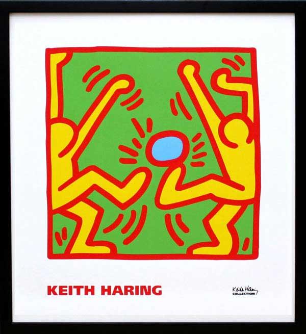 キース・ヘリング「KH11」(黒)展示用フック付ポスター ポップアート【インテリア】【アート】【キースヘリング】【キース ヘリング】【絵画インテリア】【ポスター】
