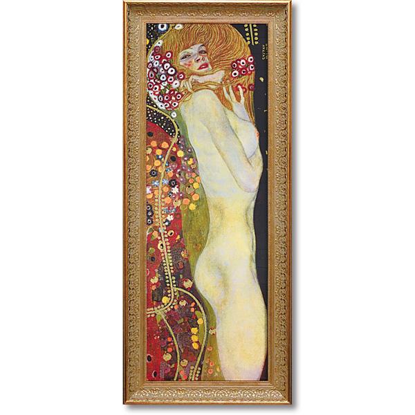 グスタフ・クリムト「水蛇2」表面特殊ゲル加工 プレゼント ギフト 各種お祝い 誕生日 絵画 インテリア アート 洋画