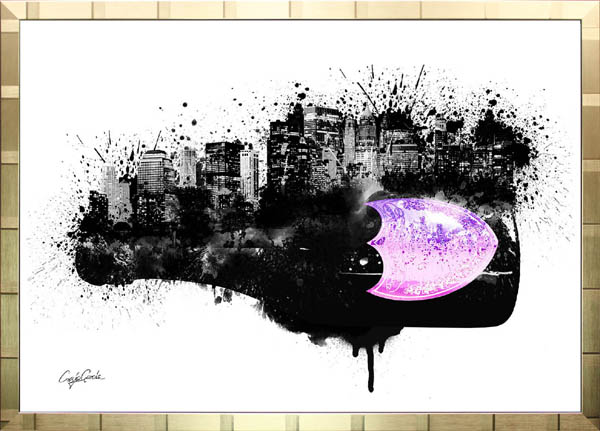 絵画 インテリア ブランドオマージュアート/クレイグ・ガルシア「ドン・ペリニヨン・シティ(G)」ポスター ポップアート ドンペリ オマージュ