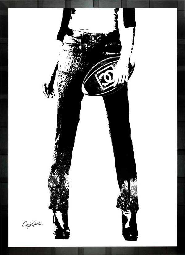 【絵画インテリア】ブランドオマージュアート/クレイグ・ガルシア「シャネル/ラグビー」ポスター【インテリア】【ポップアート】【クレイグガルシア】【シャネル】【オマージュ】【パロディ】