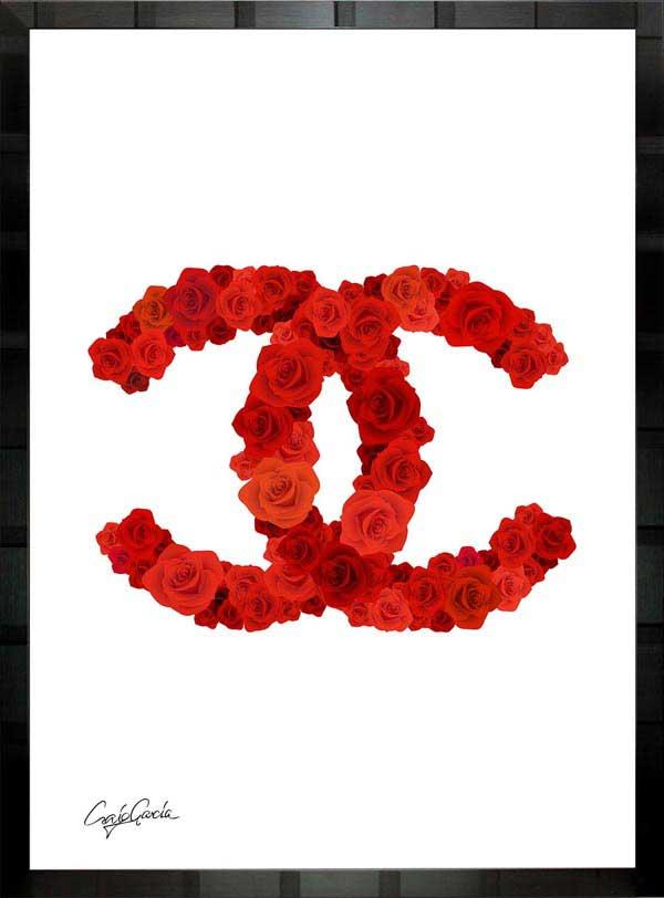 【絵画インテリア】ブランドオマージュアート/クレイグ・ガルシア「ローズ・シャネル Ab」ポスター【インテリア】【ポップアート】【クレイグガルシア】【シャネル】【オマージュ】【パロディ】
