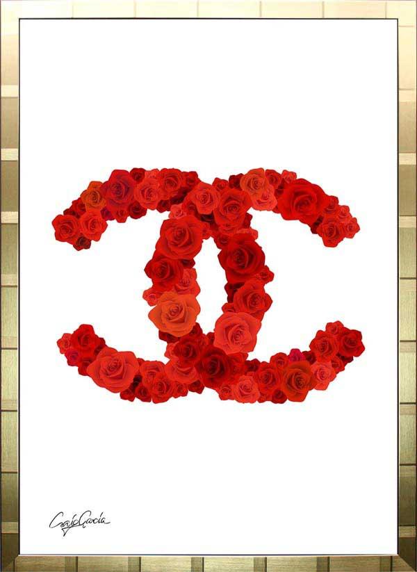 【絵画インテリア】ブランドオマージュアート/クレイグ・ガルシア「ローズ・シャネル Ab(G)」ポスター【インテリア】【ポップアート】【クレイグガルシア】【シャネル】【オマージュ】【パロディ】