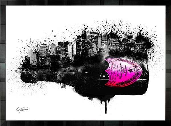 【絵画インテリア】ブランドオマージュアート/クレイグ・ガルシア「ドン・ペリニヨン・シティc」ポスター【インテリア】【ポップアート】【クレイグガルシア】【ドンペリ】【オマージュ】【パロディ】