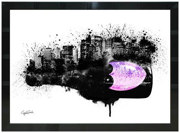 絵画 インテリア クレイグ・ガルシア オマージュアート 額縁3種展開 cgdpc02 A2アートポスター ポップアート