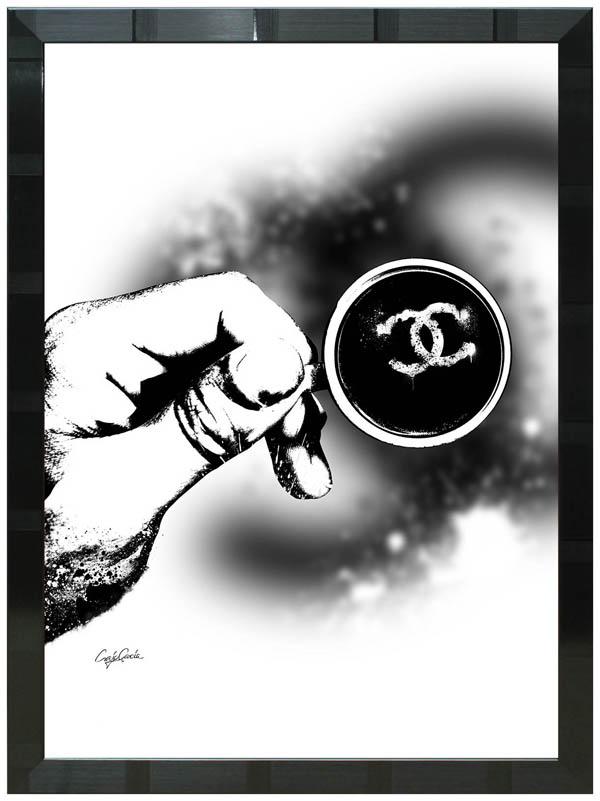 絵画 インテリア クレイグ・ガルシア オマージュアート 額縁3種展開 cglst01 A2アートポスター ポップアート