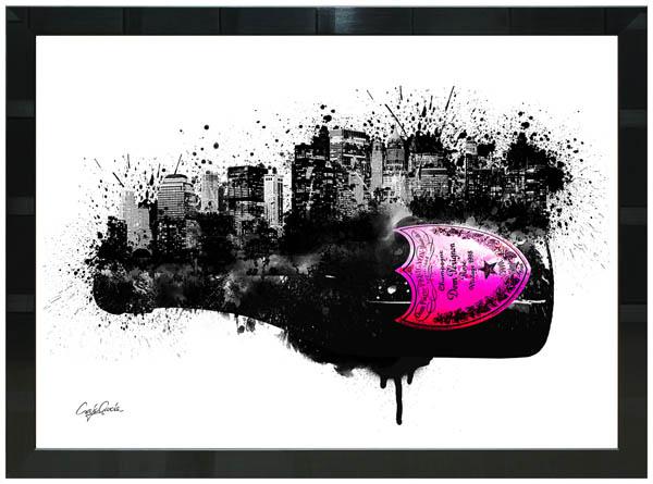絵画 インテリア クレイグ・ガルシア オマージュアート 額縁3種展開 cgdpc01 A2アートポスター ポップアート
