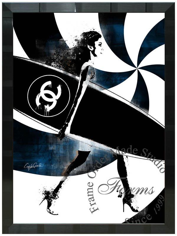 絵画 インテリア クレイグ・ガルシア オマージュアート 額縁3種展開 cgpicvtbw01 A2アートポスター ポップアート