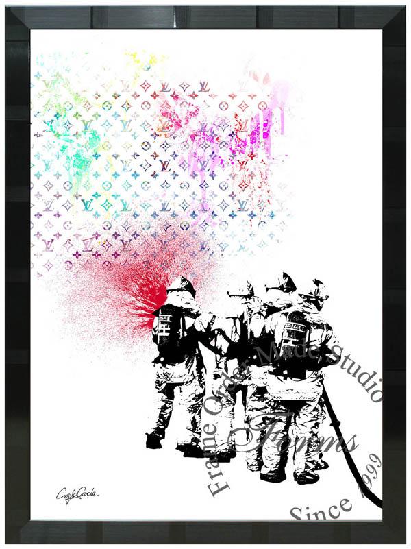 絵画 インテリア クレイグ・ガルシア オマージュアート 額縁3種展開 cgrptlv01 A2アートポスター ポップアート