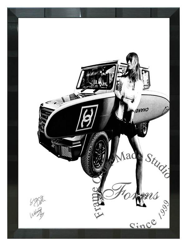 絵画 インテリア スター・デザイン オマージュアート 額縁3種展開 wb46 A2アートポスター ポップアート
