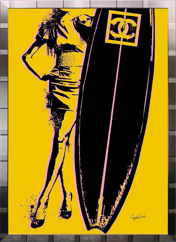 【絵画インテリア】ブランドオマージュアート/クレイグ・ガルシア「シャネル/サーフィンd(S)」ポスター【インテリア】【ポップアート】【クレイグガルシア】【シャネル】【オマージュ】【パロディ】