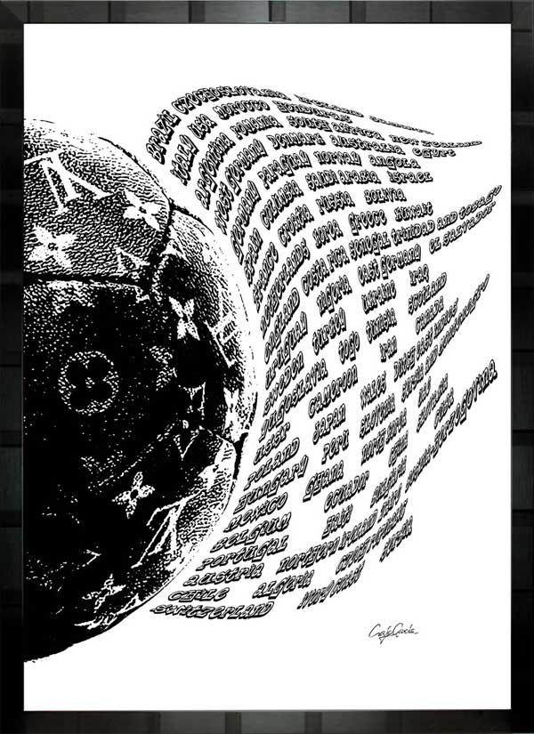 【絵画インテリア】ブランドオマージュアート/クレイグ・ガルシア「ルイ・ヴィトン/サッカー/ワールドカップ出場国c」ポスター【インテリア】【ポップアート】【クレイグガルシア】【ヴィトン】【オマージュ】【パロディ】
