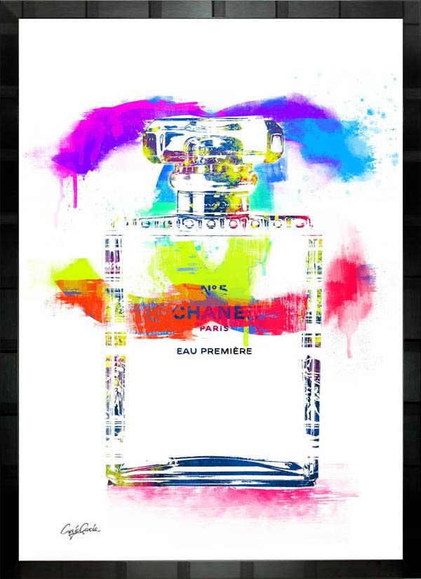 【絵画インテリア】ブランドオマージュアート/クレイグ・ガルシア「シャネル/No5/香水2」ポスター【インテリア】【ポップアート】【クレイグガルシア】【シャネル】【オマージュ】【パロディ】