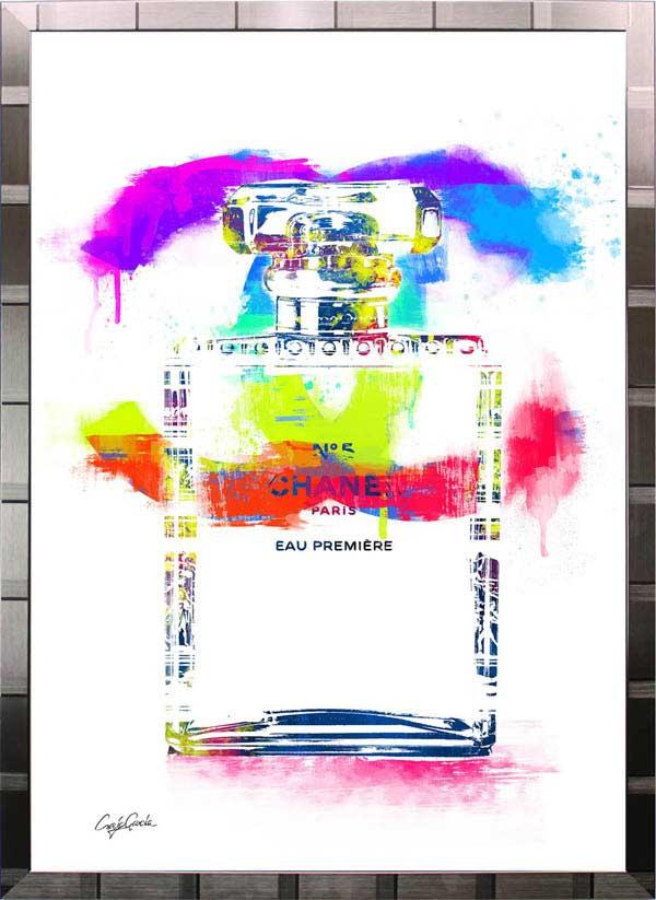 【絵画インテリア】ブランドオマージュアート/クレイグ・ガルシア「シャネル/No5/香水2(S)」ポスター【インテリア】【ポップアート】【クレイグガルシア】【シャネル】【オマージュ】【パロディ】