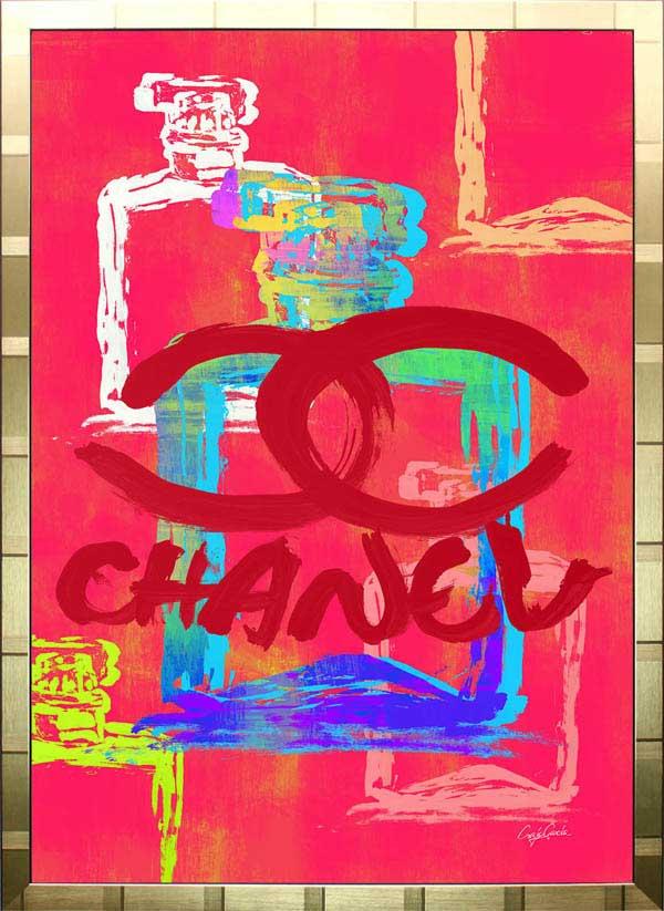 【絵画インテリア】ブランドオマージュアート/クレイグ・ガルシア「シャネル/No5/香水3(G)」ポスター【インテリア】【ポップアート】【クレイグガルシア】【シャネル】【オマージュ】【パロディ】