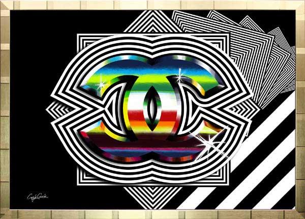 絵画 インテリア ブランドオマージュアート/クレイグ・ガルシア「シャネル/ロック(G)」ポスター ポップアート シャネル オマージュ