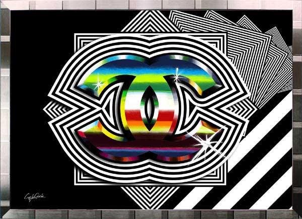 【絵画インテリア】ブランドオマージュアート/クレイグ・ガルシア「シャネル/ロック(S)」ポスター【インテリア】【ポップアート】【クレイグガルシア】【シャネル】【オマージュ】【パロディ】