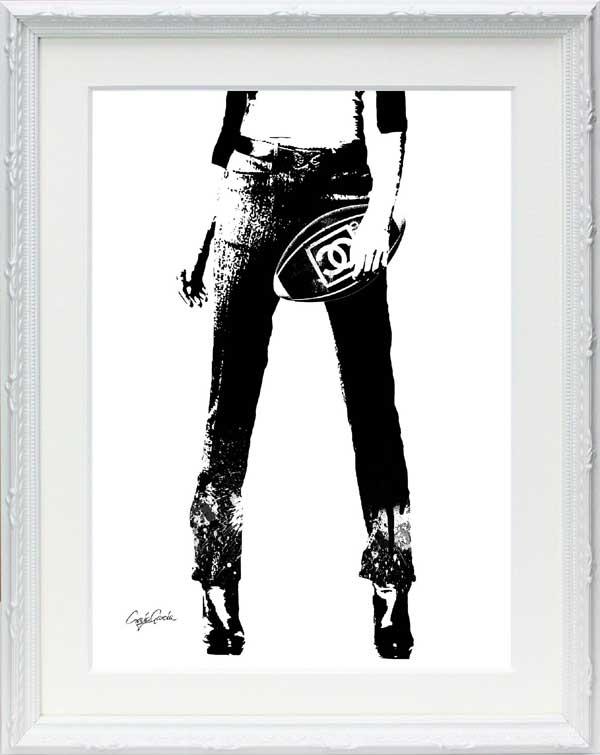 絵画 インテリア ブランドオマージュアート/クレイグ・ガルシア「シャネル/ラグビー(W)」ポスター ポップアート シャネル オマージュ