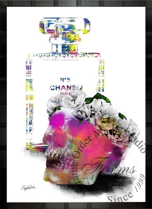 絵画 インテリア ブランドオマージュアート/クレイグ・ガルシア「シャネル/デザイアc」ポスター ポップアート シャネル オマージュ