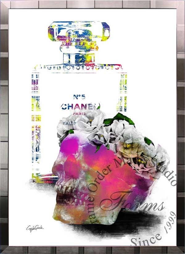 絵画 インテリア ブランドオマージュアート/クレイグ・ガルシア「シャネル/デザイアc(S)」ポスター ポップアート シャネル オマージュ