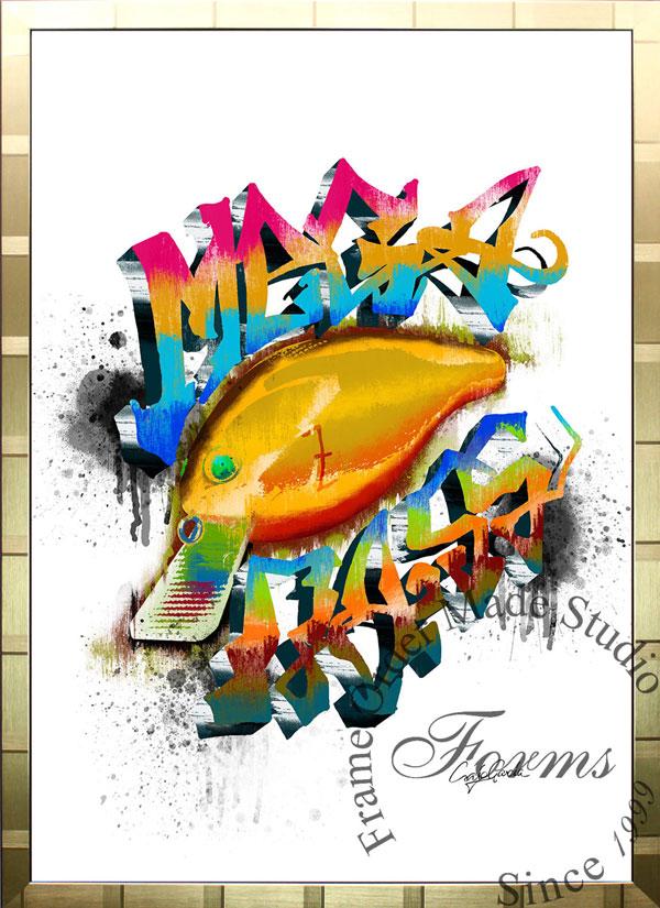 絵画 インテリア ブランドオマージュアート/クレイグ・ガルシア「メガバス(G)」ポスター ポップアート メガバス オマージュ