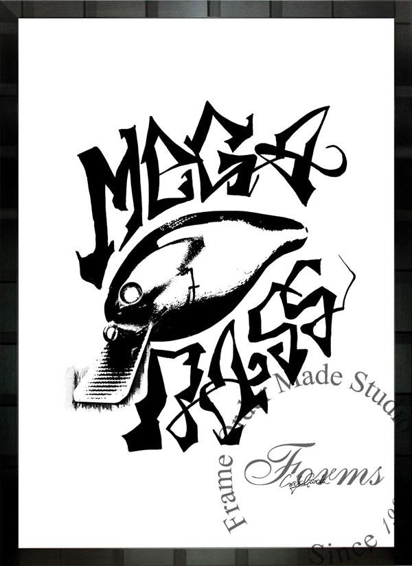 絵画 インテリア ブランドオマージュアート/クレイグ・ガルシア「メガバスc」ポスター ポップアート メガバス オマージュ