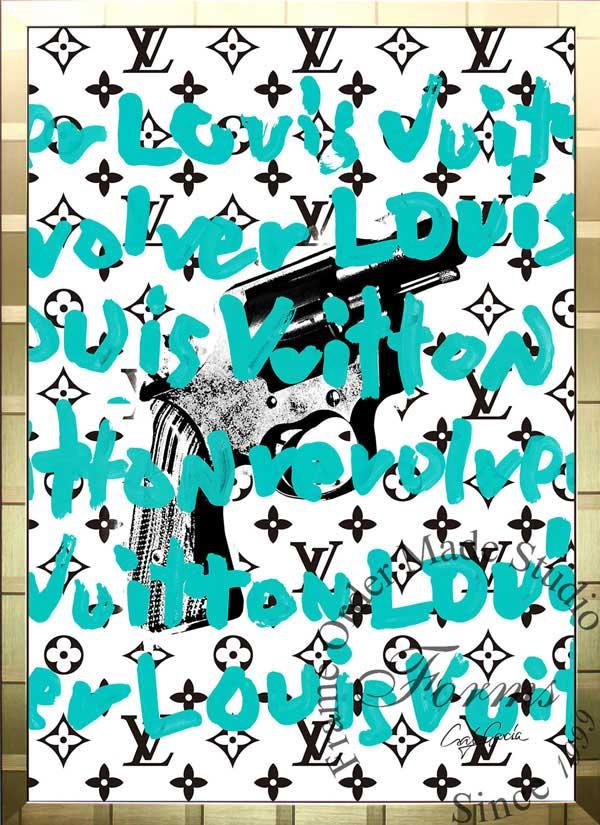 絵画 インテリア ブランドオマージュアート/クレイグ・ガルシア「ルイ・ヴィトン/エクスクイジットT(G)」ポスター ポップアート ヴィトン オマージュ