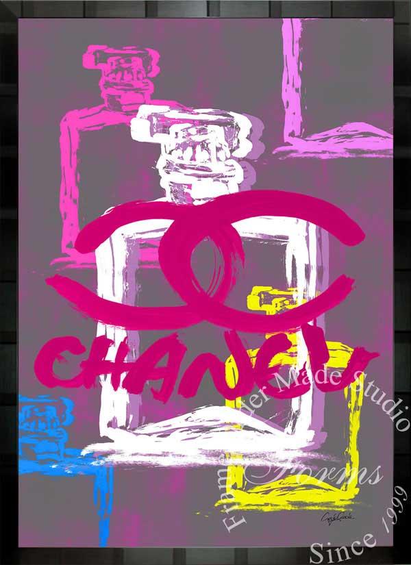 【絵画インテリア】ブランドオマージュアート/クレイグ・ガルシア「シャネル/No5/香水3c」ポスター【インテリア】【ポップアート】【クレイグガルシア】【シャネル】【オマージュ】【パロディ】