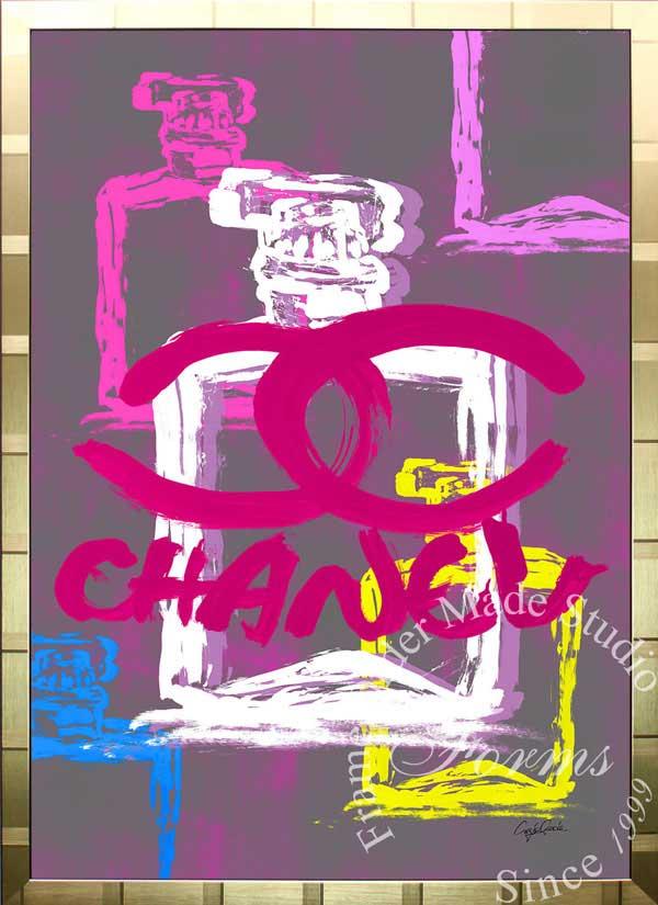 【絵画インテリア】ブランドオマージュアート/クレイグ・ガルシア「シャネル/No5/香水3c(G)」ポスター【インテリア】【ポップアート】【クレイグガルシア】【シャネル】【オマージュ】【パロディ】