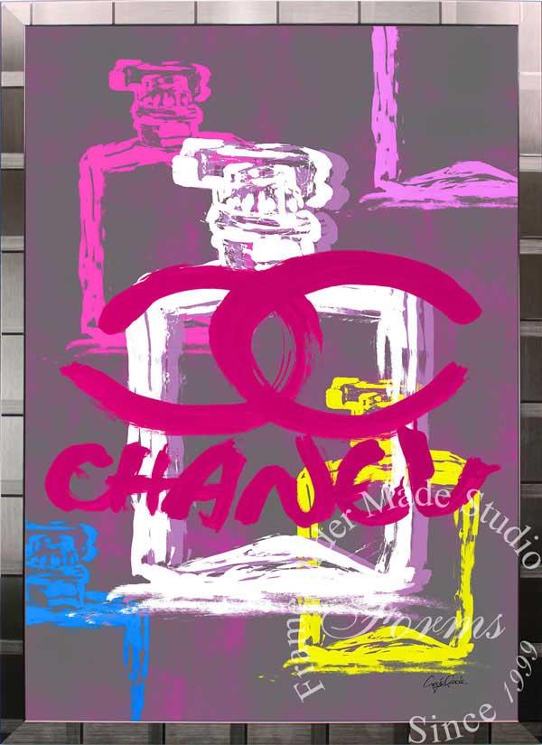 絵画 インテリア ブランドオマージュアート/クレイグ・ガルシア「シャネル/No5/香水3c(S)」ポスター ポップアート シャネル オマージュ