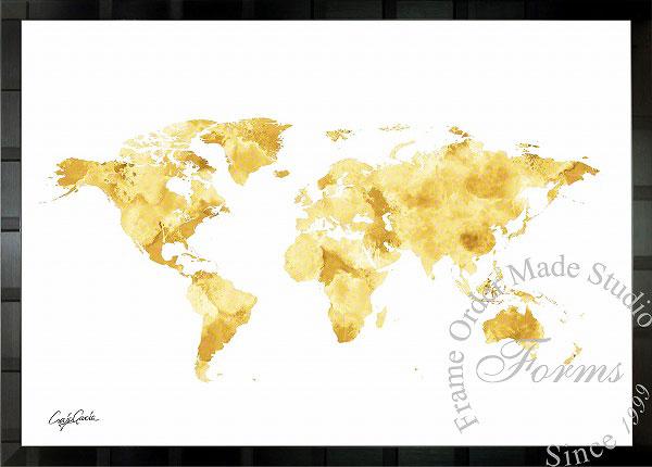 絵画 インテリア ブランドオマージュアート/クレイグ・ガルシア「ルイ・ヴィトン/ワールドマップb」ポスター ポップアート ヴィトン オマージュ
