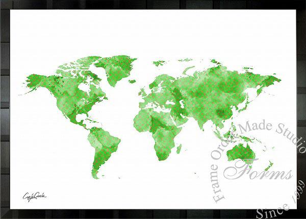 絵画 インテリア ブランドオマージュアート/クレイグ・ガルシア「ルイ・ヴィトン/ワールドマップc」ポスター ポップアート ヴィトン オマージュ