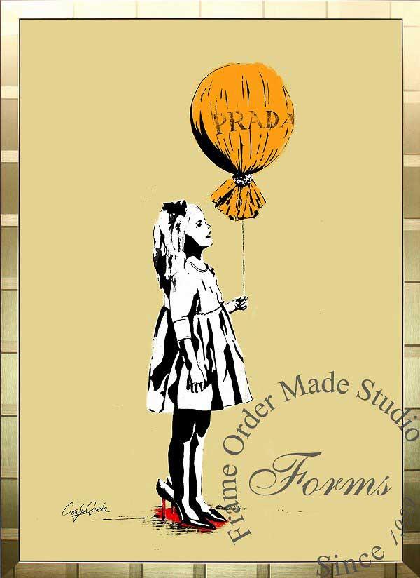 絵画 インテリア ブランドオマージュアート/クレイグ・ガルシア「プラダ/ロング・エイジe(G)」ポスター ポップアート プラダ オマージュ