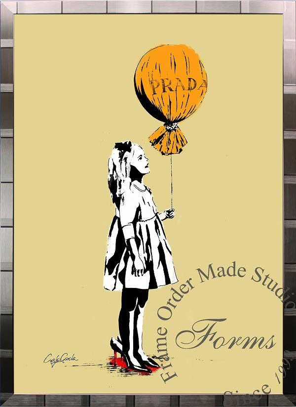 絵画 インテリア ブランドオマージュアート/クレイグ・ガルシア「プラダ/ロング・エイジe(S)」ポスター ポップアート プラダ オマージュ