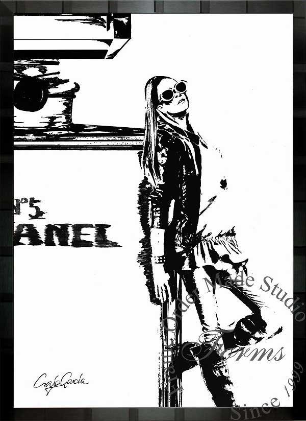 絵画 インテリア ブランドオマージュアート/クレイグ・ガルシア「シャネル/コーナーc」ポスター ポップアート シャネル オマージュ