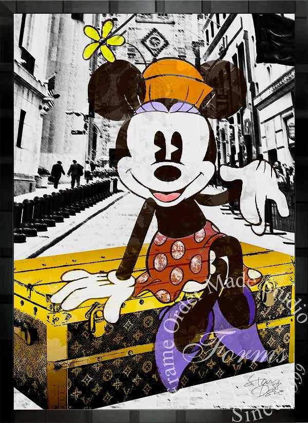 絵画 インテリア ディズニー×ブランドオマージュアート/スターデザイン「ミニーマウス×ルイ・ヴィトン」A1ポスター