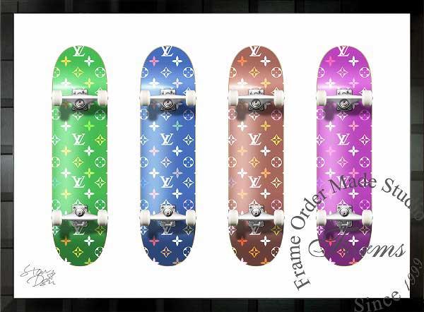絵画 インテリア ブランドオマージュアート/スターデザイン「スケートボード×ルイ・ヴィトン/Monogram Board」A1ポスター