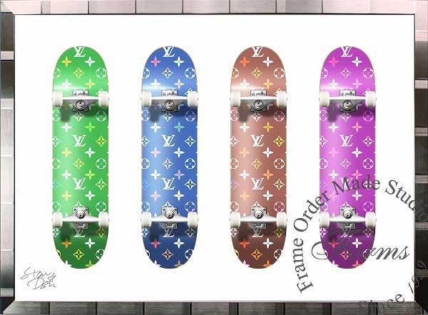 絵画 インテリア ブランドオマージュアート/スターデザイン「スケートボード×ルイ・ヴィトン/Monogram Board(S)」A1ポスター