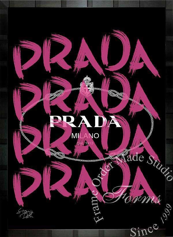 絵画 インテリア ブランドオマージュアート/スターデザイン「プラダ/Prada Marfa」A1ポスター