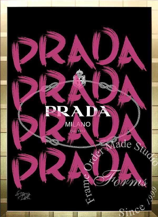 絵画 インテリア ブランドオマージュアート/スターデザイン「プラダ/Prada Marfa(G)」A1ポスター
