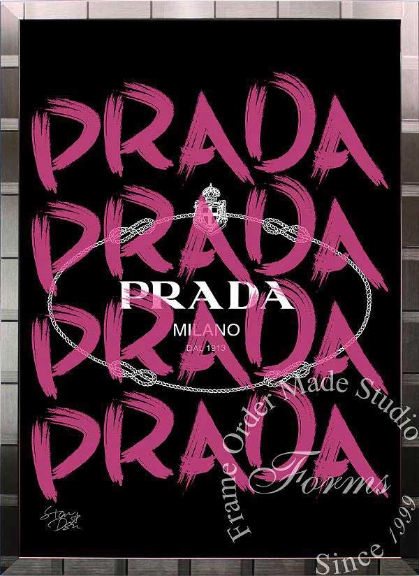 絵画 インテリア ブランドオマージュアート/スターデザイン「プラダ/Prada Marfa(S)」A1ポスター