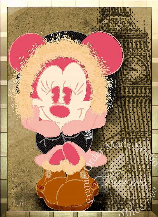 絵画 インテリア ディズニー×ブランドオマージュアート/スターデザイン「ミニーマウス×モンクレール/UGG(G)」A1ポスター